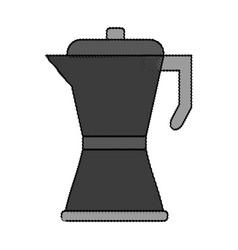 Color blurred metallic tea pot for hot drinks vector
