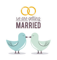 Colorful poster of we are getting married with vector