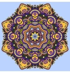 Colour mandala circle decorative spiritual indian vector
