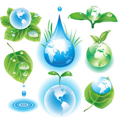 concept of ecology symbols vector image vector image