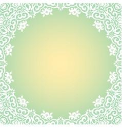 Decorative floral border vector
