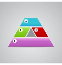 Elegant pyramid logo from many parts vector