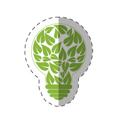 Environment leaves shape bulb natural vector