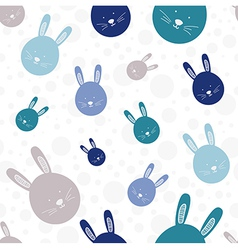 Funny bunny seamless pattern vector image