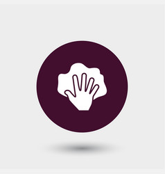Hand with rag icon simple vector