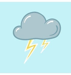 Icon of thunderstorm vector