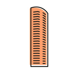 Isolated brown color skyscraper in lineart style vector