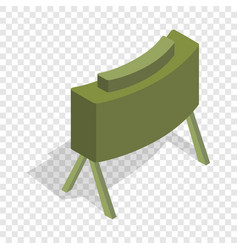 Military mine isometric icon vector