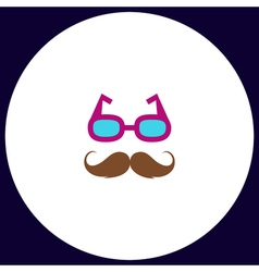 Mustache and Glasses computer symbol vector image vector image