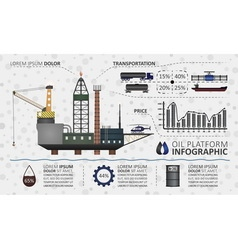 Oil platform infographic vector