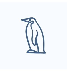 Penguin sketch icon vector image vector image