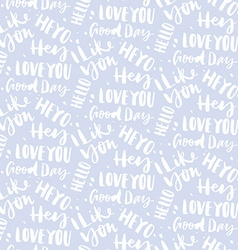 Seamless pattern with greetings vector image vector image