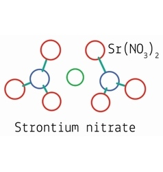 SrN2O6 Strontium nitrate molecule vector image vector image