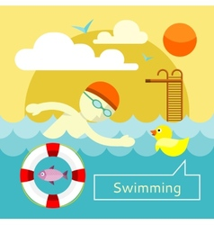Swimming concept vector
