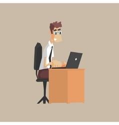 Tech support office worker vector
