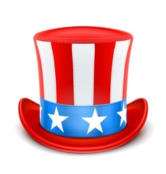 usa top hat for independence vector image vector image