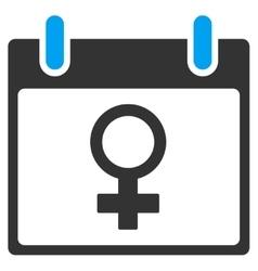 Venus female symbol calendar day toolbar vector