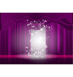 violet theatre stage curtain vector image