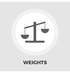 Weights icon flat vector image vector image