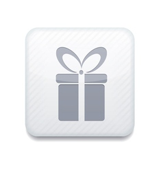 White gift icon eps10 easy to edit vector