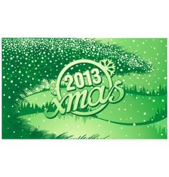 New year holiday inscription xmas in retro style vector