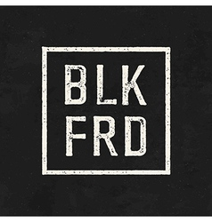 Blk frd black friday sale on the blackboard vector