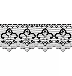 Lace pattern with classic floral ornaments vector