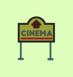 in flat style cinema sign vector image