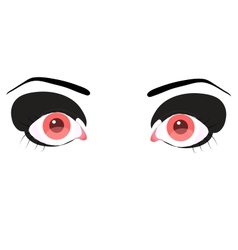 Beautiful pink eye vector