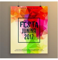 festa junina poster template design for brazil vector image