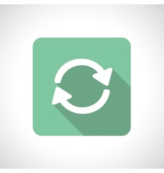 Recycle or pre-loader icon vector