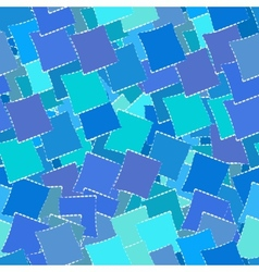 Retro geometric seamless patternof blue squares vector