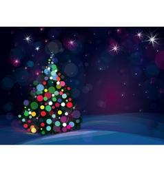tree lights background vector image