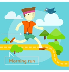 Morning run concept vector