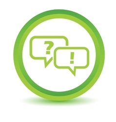 Question answer volumetric icon vector