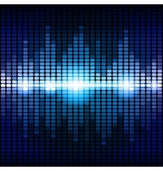 Blue and purple digital equalizer background vector