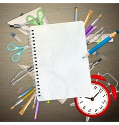 School office supplies eps 10 vector