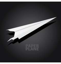 Paper airplane in sky vector