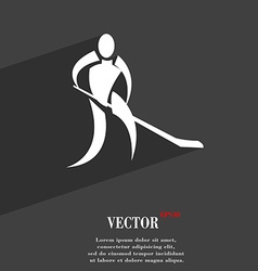 Winter sport hockey symbol flat modern web design vector