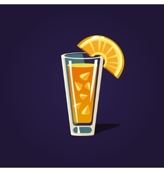 Orange cocktail vector