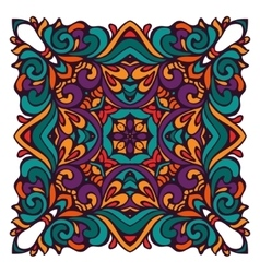 Ornamental abstract colorful ethnic floral design vector