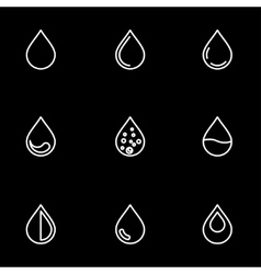 Line drop icon set vector