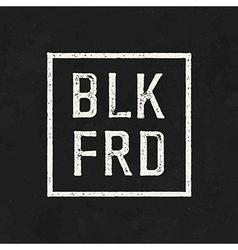 BLK FRD Black friday sale on the blackboard vector image