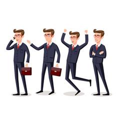 businessman isolatede suit elegant happy vector image