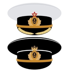 Cap officer of the Navy of the USSR and Russia vector image vector image