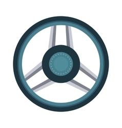 Car rudder wheel vector image