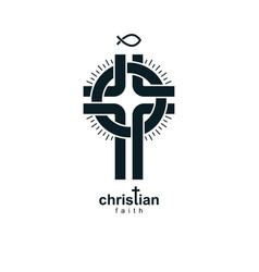 Christian cross symbol christianity god religion vector