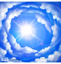 Cloudy sky vector image vector image