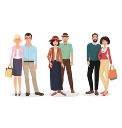 Couple of adults people Man and woman detailed vector image vector image