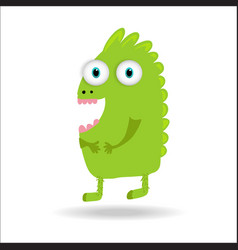 Cute monster kids logo monster set vector